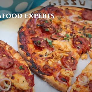 Spicy Salmon And Chorizo Pizza