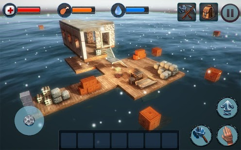 Winter Survival On Raft 3D - PRO Screenshot