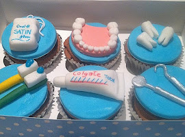 Dental themed cupcakes