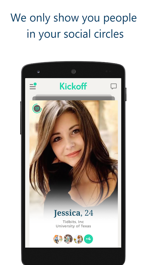Kickoff: the safe 'swipe app'!- screenshot