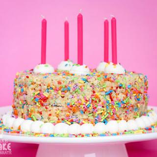 Rice Crispy Birthday Cake!