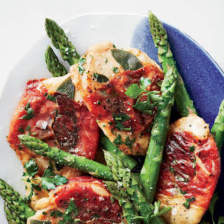 Chicken Saltimbocca with Asparagus.