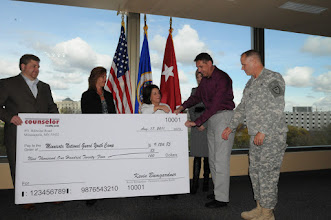 Photo: Thank you Counselor Realty for presenting a $9,124.85 check to the Minnesota National Guard Youth Camp today at the Veterans Service Building in St. Paul. Sandy Maxwell, Kevin Bumgardner, Wanda Wint and Jennipher Reichert represented Counselor Realty and presented the check to Ray Kennedy and Rich Kemp (Youth Camp board members).