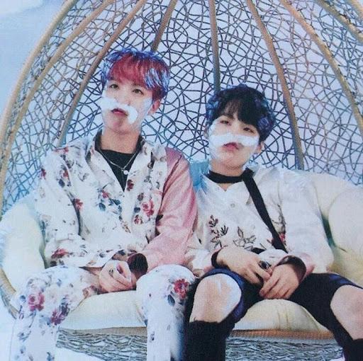 Suga and jhope mustache photo