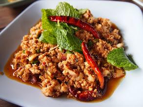 Photo: Spicy minced pork salad : Thai Food