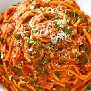One-Pot Spaghetti with Meat Sauce.