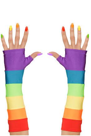 Pride, handskar utan fingrar
