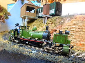 Photo: 024 A superb model of the D&HR Garratt loco made, I think, from a highly detailed Backwoods Miniatures kit, on the Darjeeling and Himalaya Railway Society 009 diorama .
