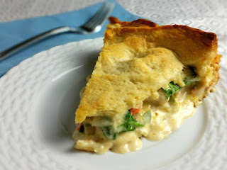 Cheesy Chicken And Veggie Pie Recipe
