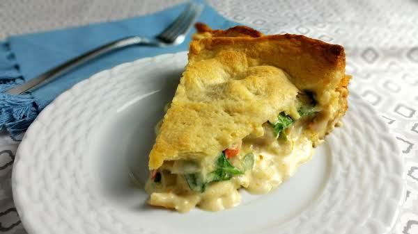 Cheesy Chicken And Veggie Pie Recipe