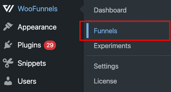 Go to funnels