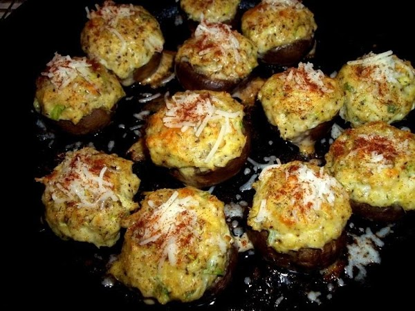 Remove from oven and sprinkle each with a pinch of cheese and then sprinkle...