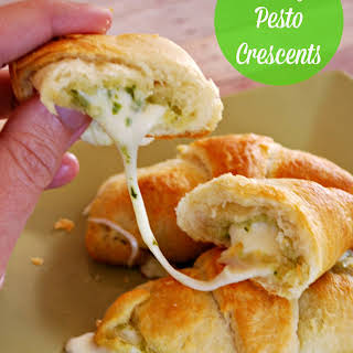 Cheesy Pesto Crescents.