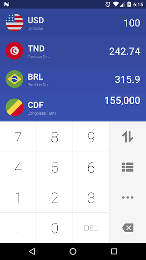 Currency Easy Converter Real Time Exchange Rates Screenshot 1