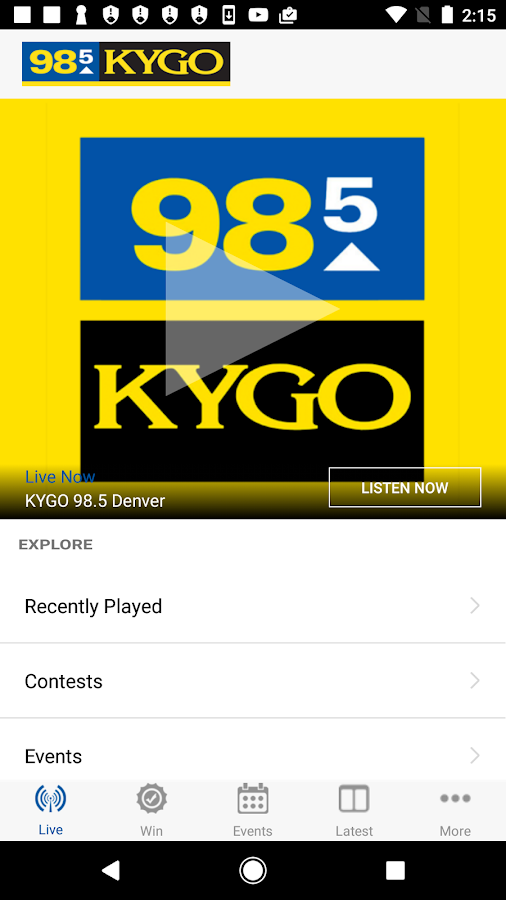 KYGO-FM Denver- screenshot