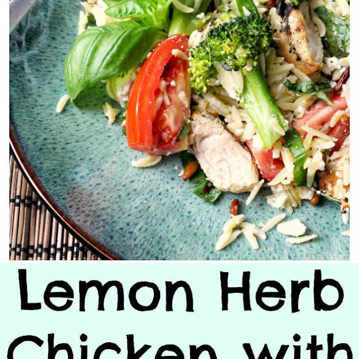 Grilled Lemon Chicken with Broccoli & Orzo Recipe