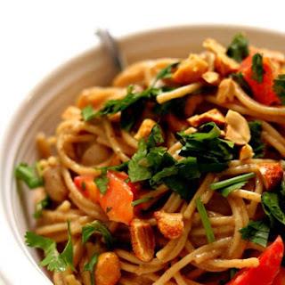 Instant Pot Thai Chicken Noodles.