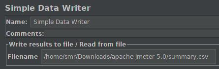 JMeter - Data Writer