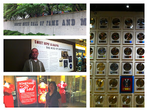 Photo: Country Music Hall of Fame and Museum, Nashville, TN.  Collage.