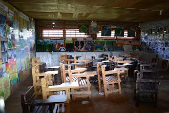 Photo: Local school inbetween Sagada's rice fields