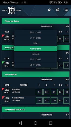 coteXsport - Programme & Cotes - MDJS ss3