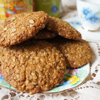 Wheat-free, dairy-free Anzac Biscuits.
