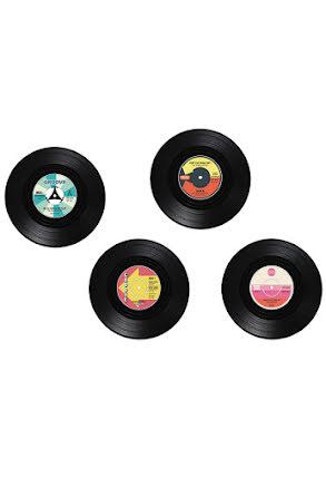 Drinkunderlägg, vinylskivor
