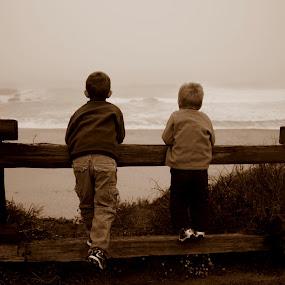 First Moments by Jason Arand - Babies & Children Children Candids ( fence, children, oean, kids, morning )