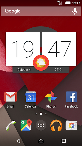Material Red Xperia Theme