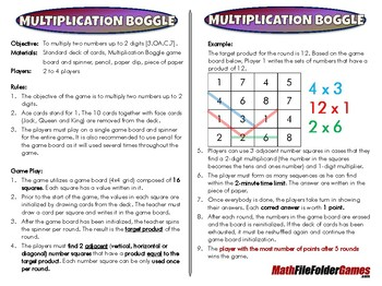 Multiplication Boggle [CCSS 3.OA.C.7]