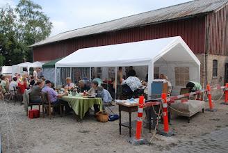 Photo: Lørdag aften var der stor fællesspisning / grill osv.