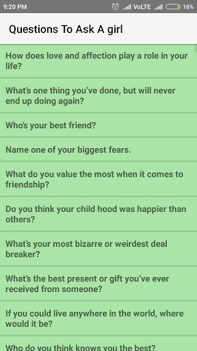 Top 5 questions to ask a girl
