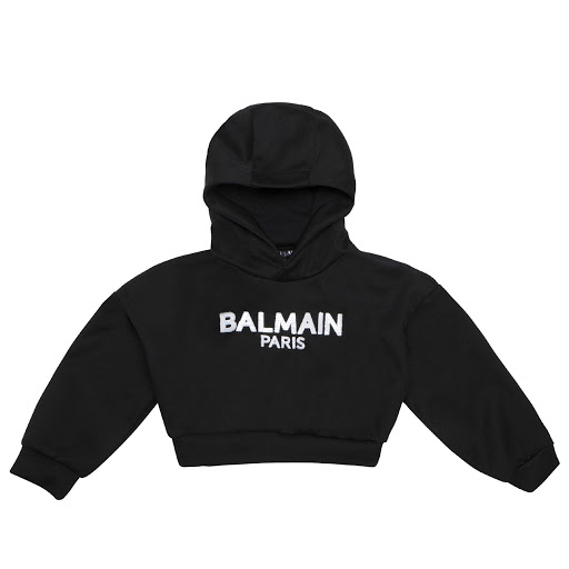 Primary image of Balmain Cropped Hooded Sweatshirt