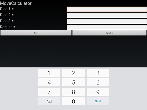 Muggins Move Calculator - screenshot