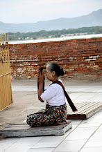 Photo: Year 2 Day 56 - Worshipper at Lawkananda Pagoda