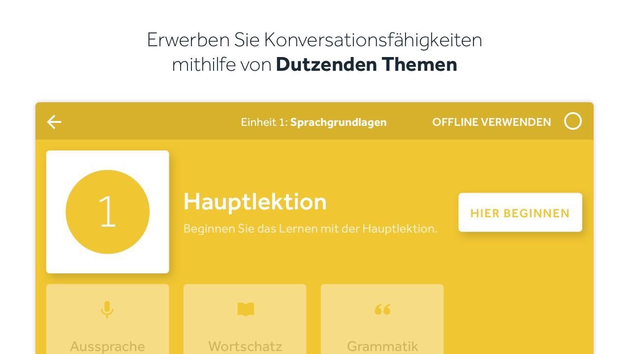 Sprachen lernen rosetta stone screenshot