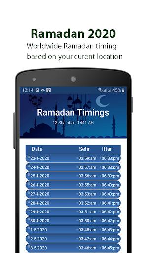Ramadan Calendar 2020, Prayer Timing, Quran, Qibla screenshot 2
