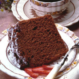 Chocolate Angel Food Cake.