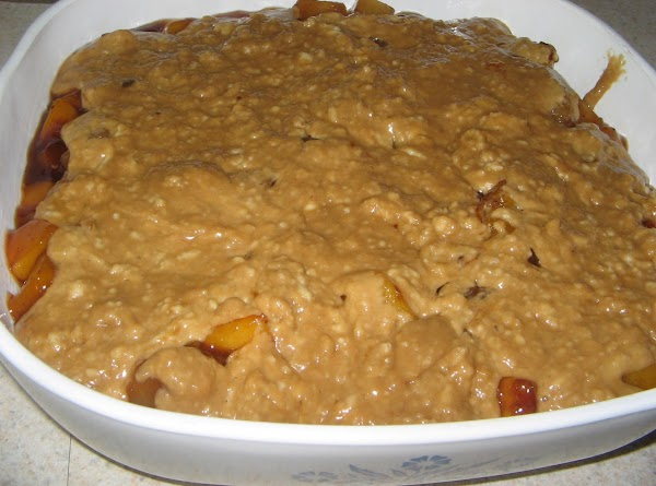 TOPPING: In a medium bowl, mix together all ingredients . Dollop mixture over top and...