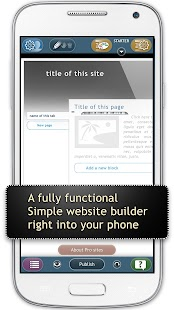 Website Builder for Android- screenshot thumbnail