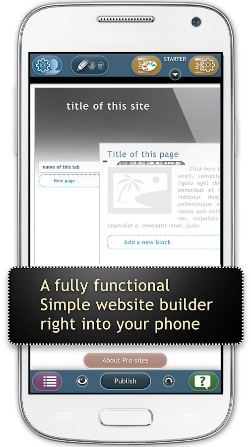 Website Builder for Android- screenshot