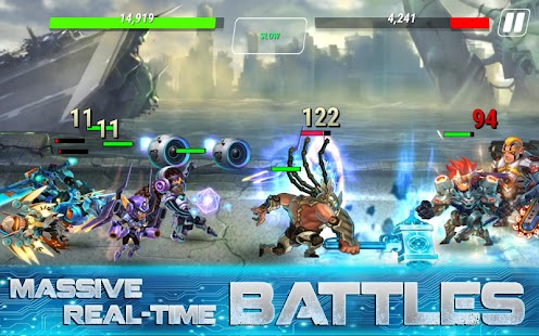 Heroes Infinity: God Warriors -Action RPG Strategy Screenshot