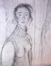 """Photo: """"Visite à trianon"""" - Florence (mine de plomb sur papier a peindre)"""