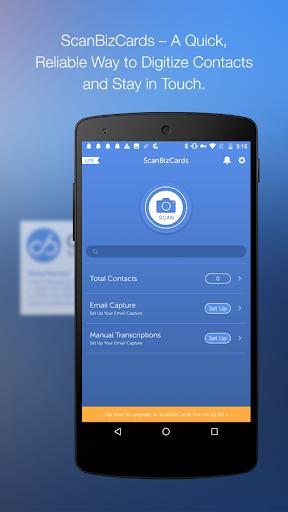 ScanBizCards Biz Card Reader  screenshot