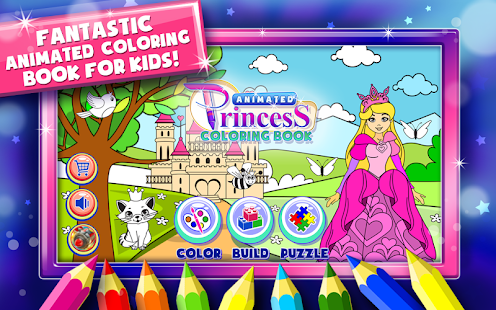 princess coloring book games screenshot thumbnail - Coloring Book Games