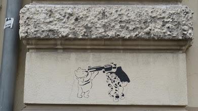 Photo: Stencil; Unknown Artist; Winnie the Pooh & Tigger