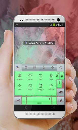 玩免費個人化APP|下載天鵝絨卡通 TouchPal app不用錢|硬是要APP