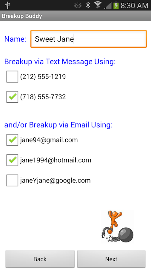 Breakup Buddy- screenshot