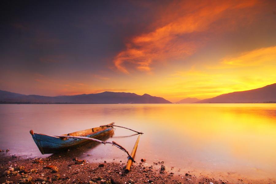 Sunset of Bungawaru #5 by Aris Winahyu BR - Landscapes Waterscapes ( waterscape, indonesia, sunset, lanscape, beach, alor )