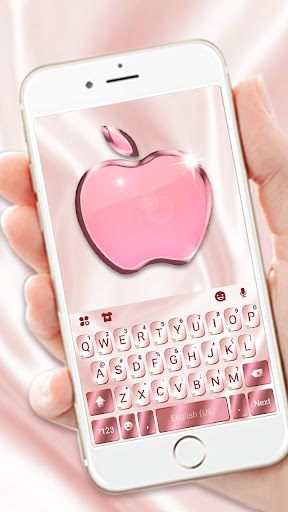 Rose Gold Keyboard for Phone8 8.0 1